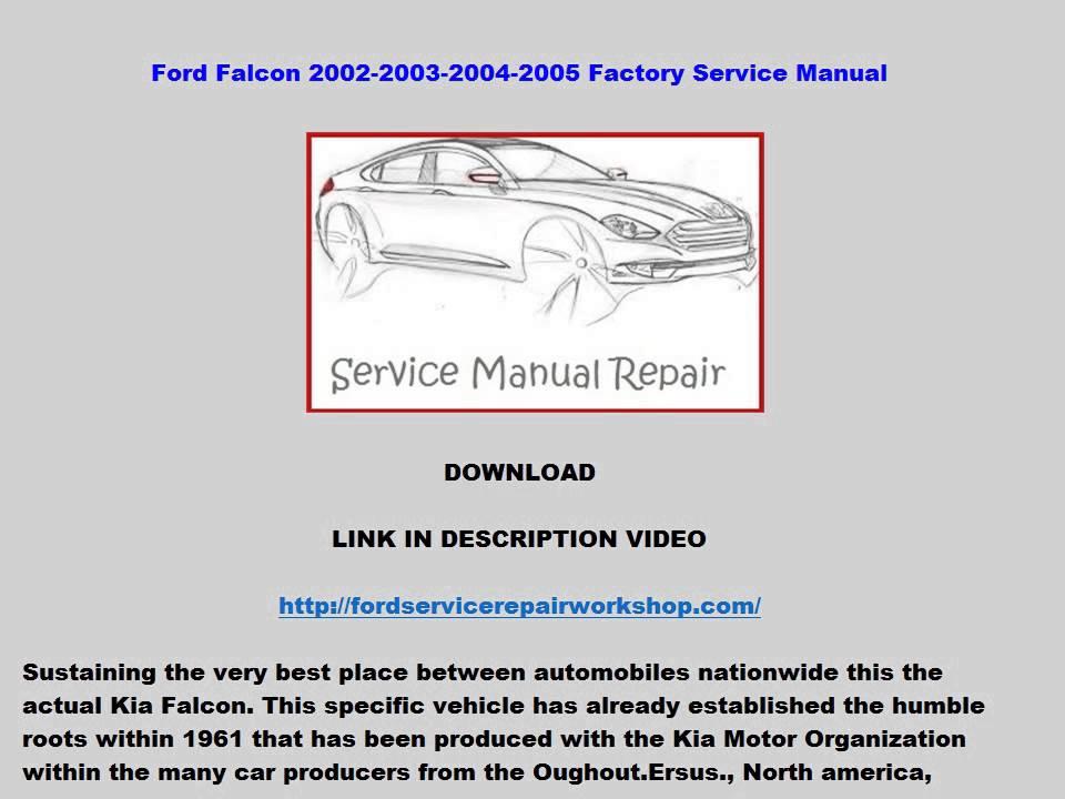 bf falcon workshop manual pdf