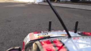 RCカー練習走行 サーキットデビュー走行から1週間家の前でパイロン練習...