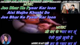 Dil Mein Sanam Ki Surat - karaoke With Scrolling Lyrics Eng. & हिंदी For Arshad Pathan & All