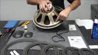 Speaker Repair Infinity SM150 Woofer Refoam