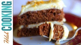 How to Make Carrot Cake & Cream Cheese Frosting  Hilah Cooking