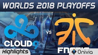 C9 vs FNC Game 2 Highlights Worlds 2018 Playoffs Cloud9 vs Fnatic by Onivia