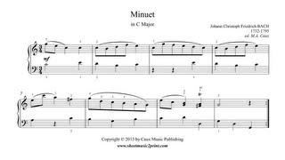 Bach, J.C.F. : Minuet in C Major - Musikalische Nebenstunden