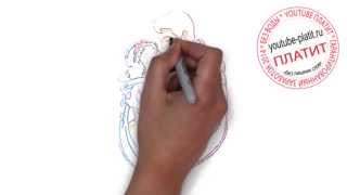 Белоснежка онлайн  Как быстро нарисовать белоснежку и семь гномов поэтапно карандашом