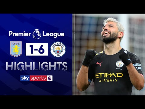 Aguero scores record-breaking hat-trick💥 | Aston Villa 1-6 Man City | Premier League Highlights