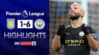 Aguero scores record-breaking hat-trick💥 | Aston Villa 1-6 Man City | Premier League Highlights