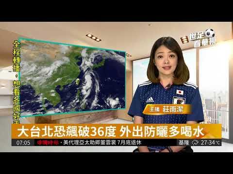 台湾のニュース番組、日本代表のユニフォームを着て番組進行【2018W杯】