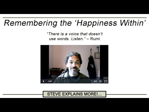 """""""Remembering the 'Happiness Within'"""" by Steve M Nash"""