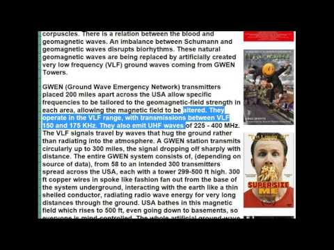 HAARP, GWEN Towers, Chemtrails and The Schumann Resonance! Mass Mind Control!