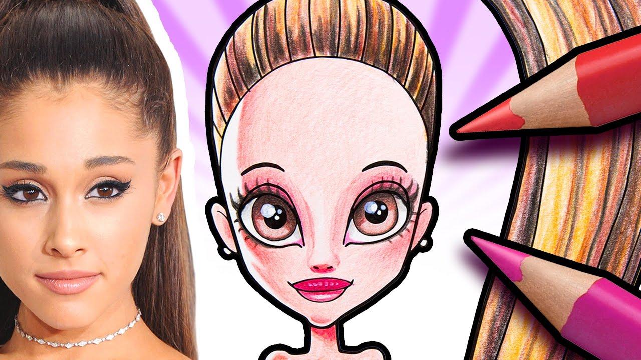Lær å tegne Ariana Grande | Øisteins Blyant tegner kjendiser