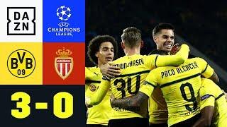 Bruun Larsen! Alcacer! Reus! BVB spielt groß auf: Dortmund - Monaco 3:0 | UEFA CL | DAZN Highlights