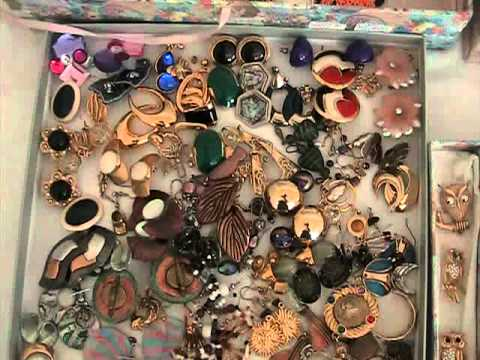 Klara's costume jewelry collection (no gold)