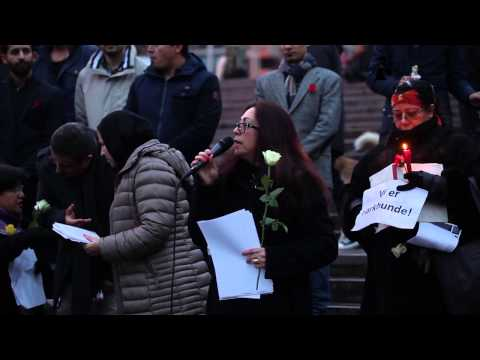 Afghan Gathering Justice for Farkhunda in Oslo Norway, 27 03 2015