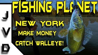 Fishing Planet New York Walleye | Ep 9 |  Make Money Fast Catching Walleye on Emerald Lake | Tips