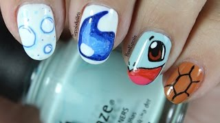 Pokemon Nail Art *squirtle*