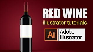 How to draw a vector Art  | Illustrator tutorials - How to draw wine bottle
