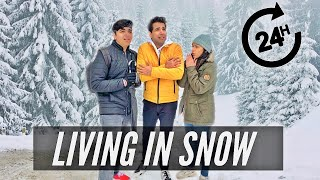 LIVING IN SNOW FOR 24 HOURS | Rimorav Vlogs