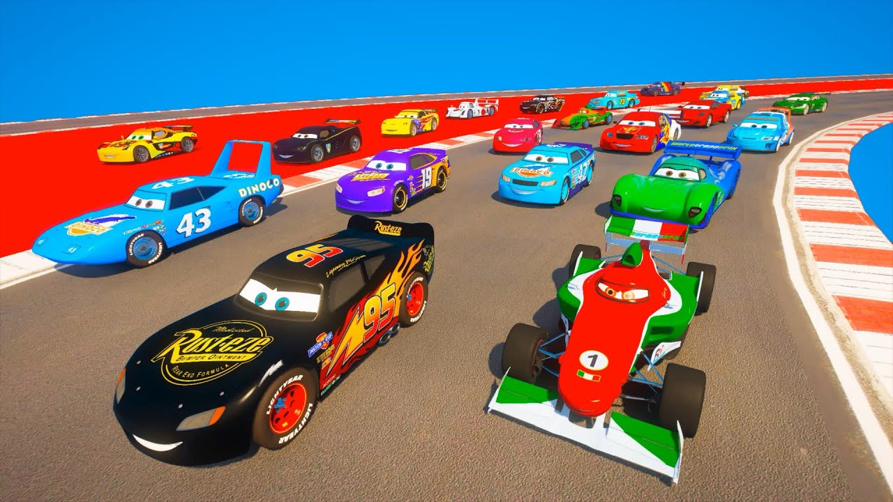 Race All Cars 2 Black McQueen and Friends The King  Francesco Bernoulli Miguel Camino Carla Veloso