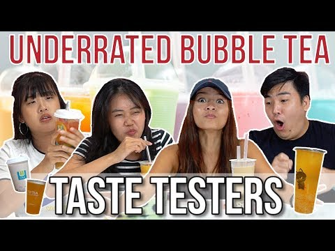 UNDERRATED BUBBLE TEA IN SINGAPORE | Taste Testers | EP 70