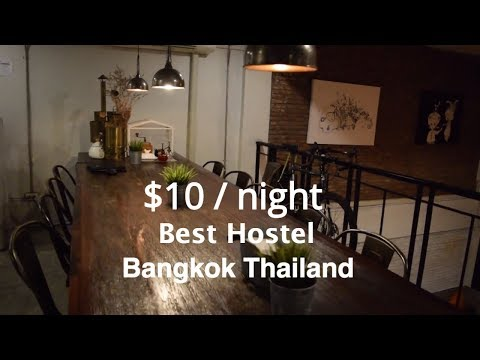 Best cheap Bangkok Hostels - $10 a night for this amazing hostel!!  Analog Hostel