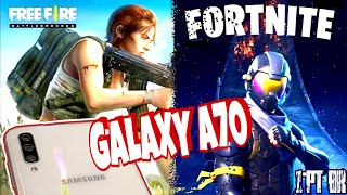 💥 Samsung GALAXY A70 | Free Fire e FORTNITE | Gameplay