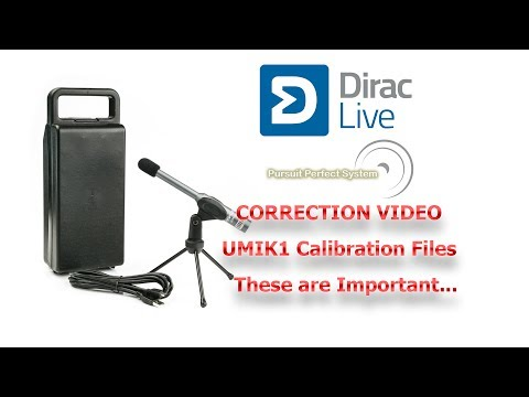 Dirac Live UMIK1 Correction Video for the Importance of Mic