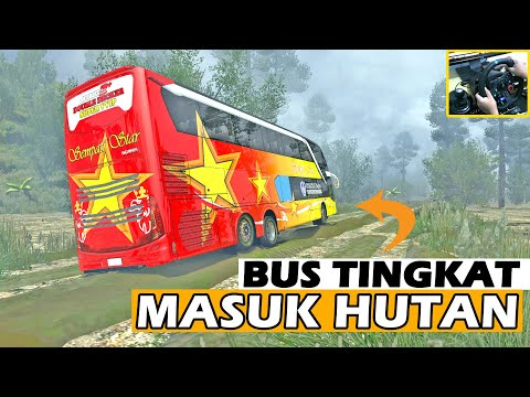 Bus SDD Sempati Star Menuju Kalimantan Melewati Jalur Offroad - 동영상
