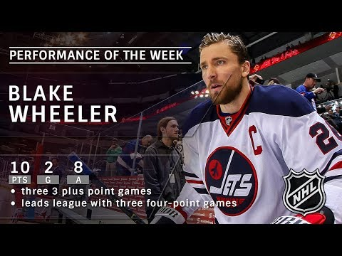 Blake Wheeler tallies 10 points in four games to spark Jets offense