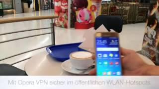 Sicher im öffentlichen WLAN-Hotspot mit der Opera VPN App für Android und iOSi