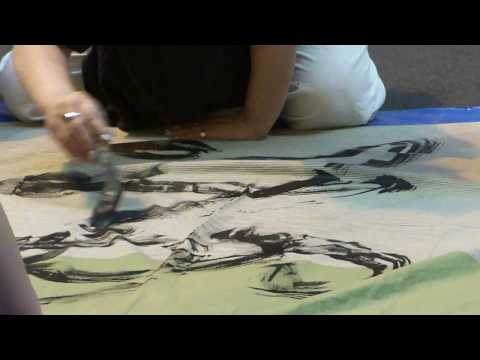 Japanese Ink Calligraphy on Rice Papers and Oyster Shells - Japan Fair 2011 @ Orchard Central