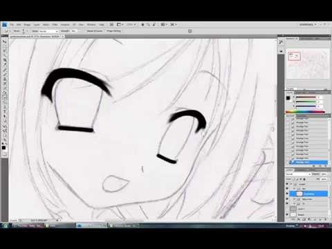 Drawing Lines With The Pen Tool : Pentool lineart in photoshop youtube