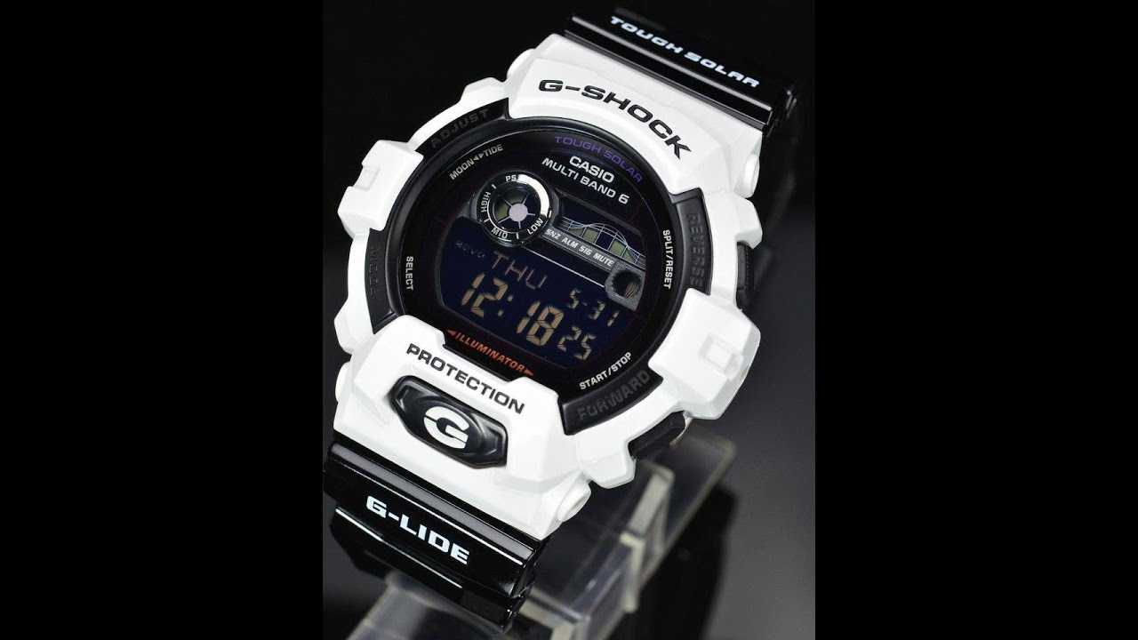 b2a103025359 Casio G-Shock GWX-8900B-7ER G-LIDE Solar Atomic Watch - YouTube