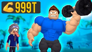I HAVE THE BIGGEST MUSCLES OF ROBLOX!! * Everyone is afraid of me *-ROBLOX