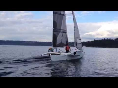 Bieker Proa Training Sail