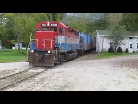 Strange Weird Railroad Crossing Defect Detector For Crossing Gates! Indiana & Ohio Railway IORY!