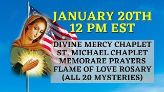 Prayer Event for America | Divine Mercy | St. Michael Chaplet | Flame of Love Rosary 20 Decades