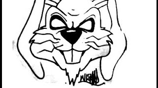 How to draw a evil Rabbit by wizard new 2013
