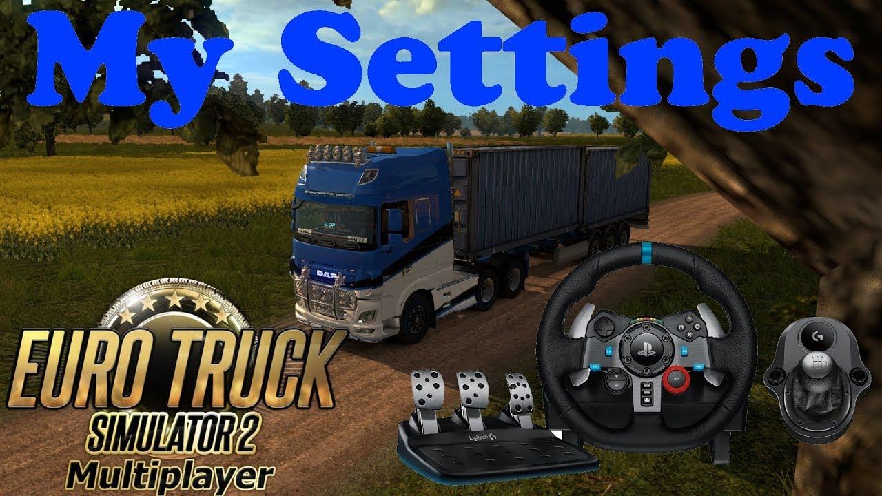 My Logitech G29 + H-Shifter settings for ETS2!!!