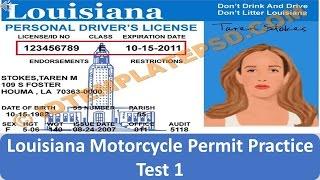 Louisiana Motorcycle Permit Practice Test 1
