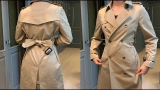 트렌치 코트 끈 날씬해 보이게 묶는 법