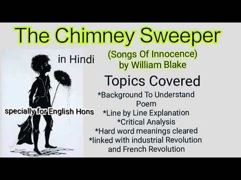 The Chimney Sweeper Summary Songs Of Innocence William