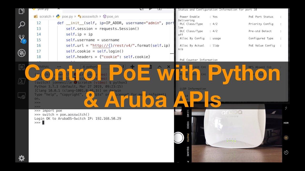 Control Port PoE Programmatically with ArubaOS-Switch and Python