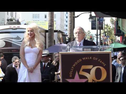 Christina Aguilera Hollywood Walk of Fame Star Ceremony