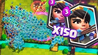 150 PRINCESSES ATTACKING AT THE SAME TIME!!! RECORD OF PRINCESSES IN CLASH ROYALE! | Clash Royale