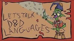 D&D Languages- Let's Talk Languages in 5e D&D