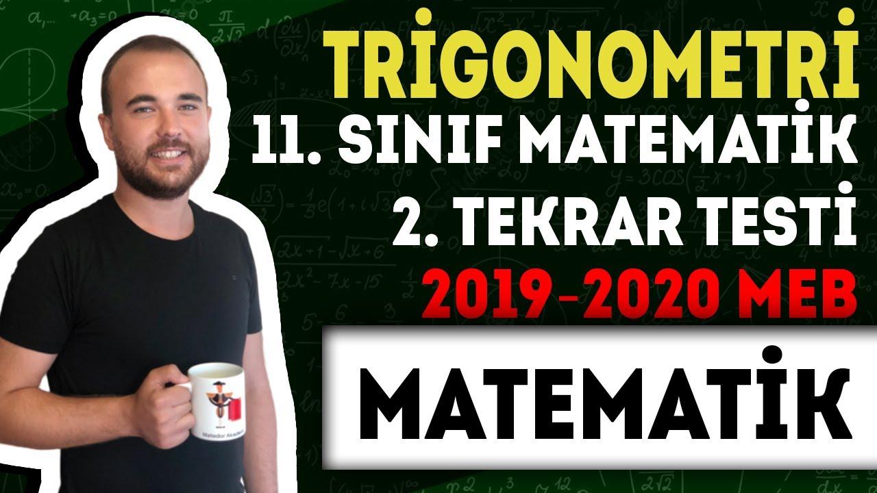 2019-2020 MEB 11. Sınıf Matematik 2. Tekrar Testi - Trigonometri
