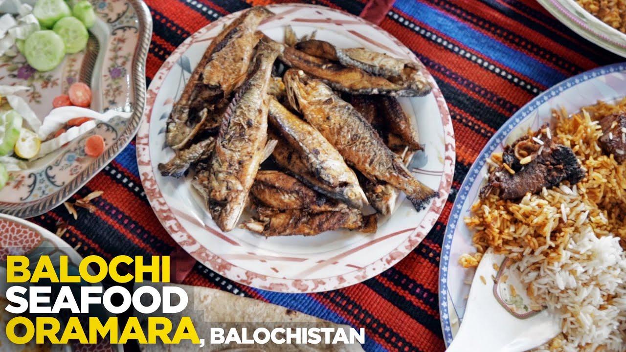 Balochi Traditional Food at Ormara   Fish Kabab, Fried, Steam, Curry, Biryani & More   Pakistan Food