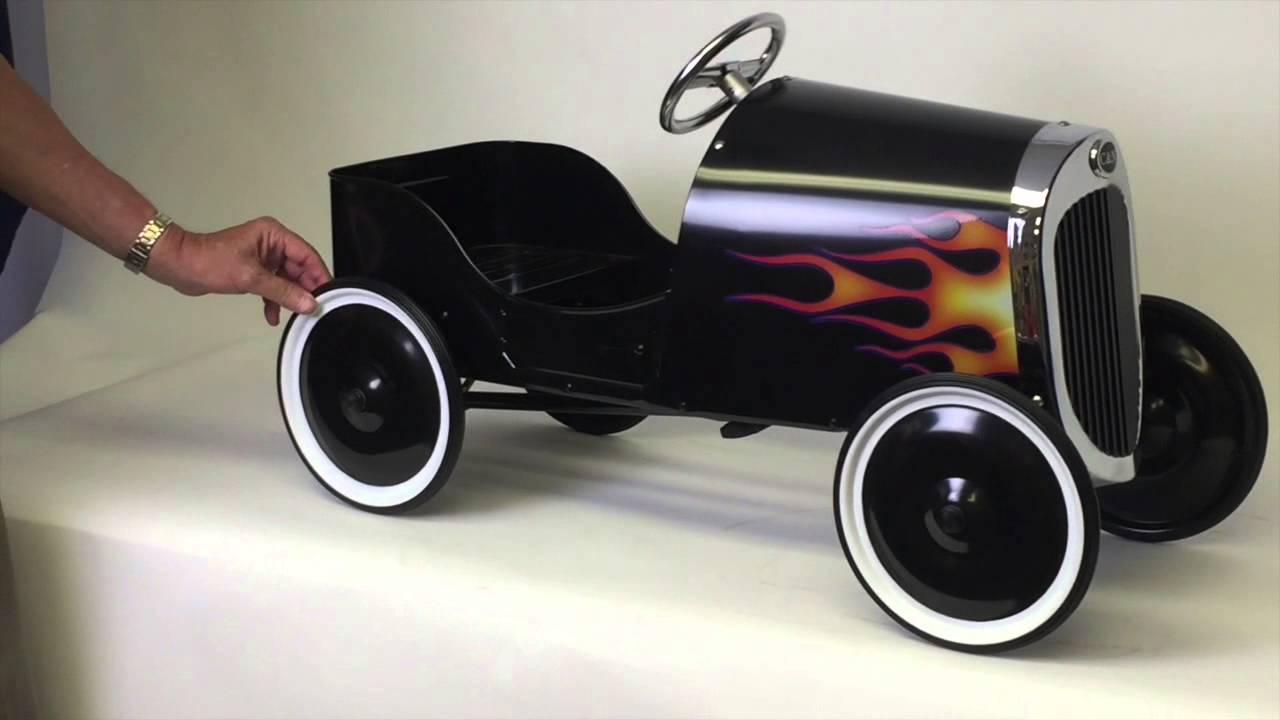 1934 Black Classic Hot Rod Pedal Car - New With All Steel Construction - YouTube & 1934 Black Classic Hot Rod Pedal Car - New With All Steel ... markmcfarlin.com