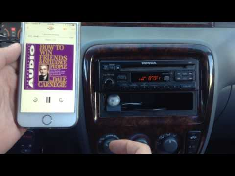 Play iphone music on car radio