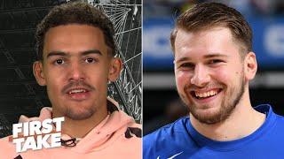 Trae Young still keeps an eye on Luka Doncic and reacts to John Collins' suspension | First Take